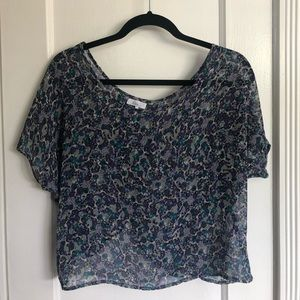 Tops - Floral Crop Top